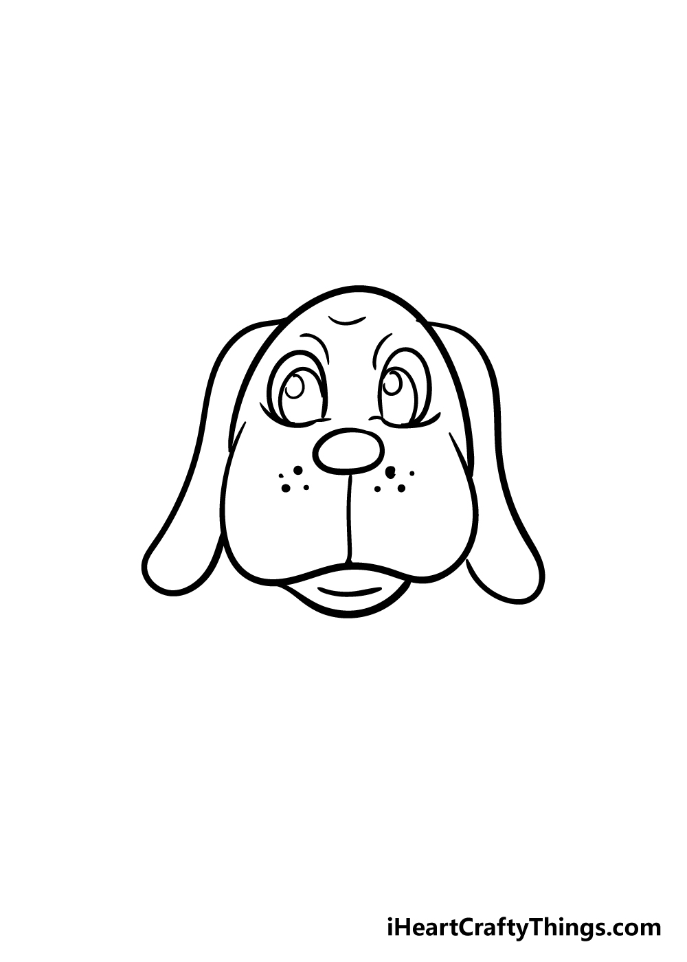 dog face drawing step 6