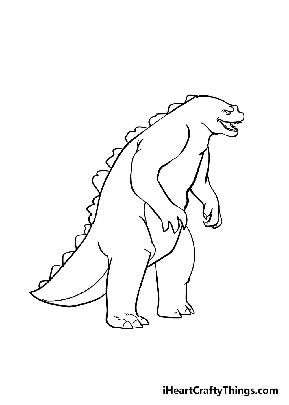 Godzilla drawing step 6