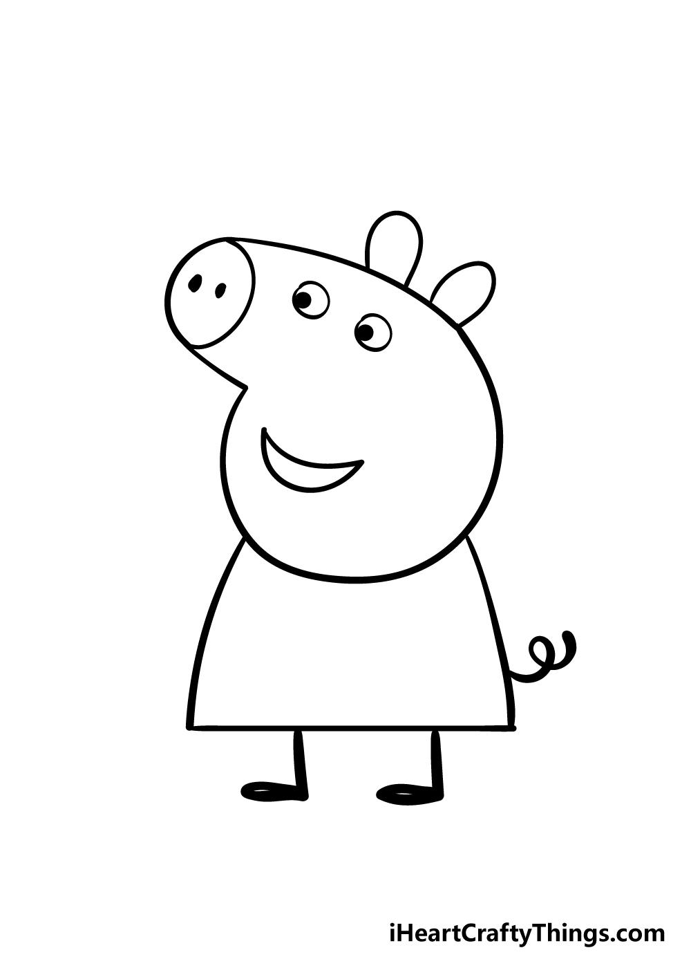 peppa pig drawing step 6