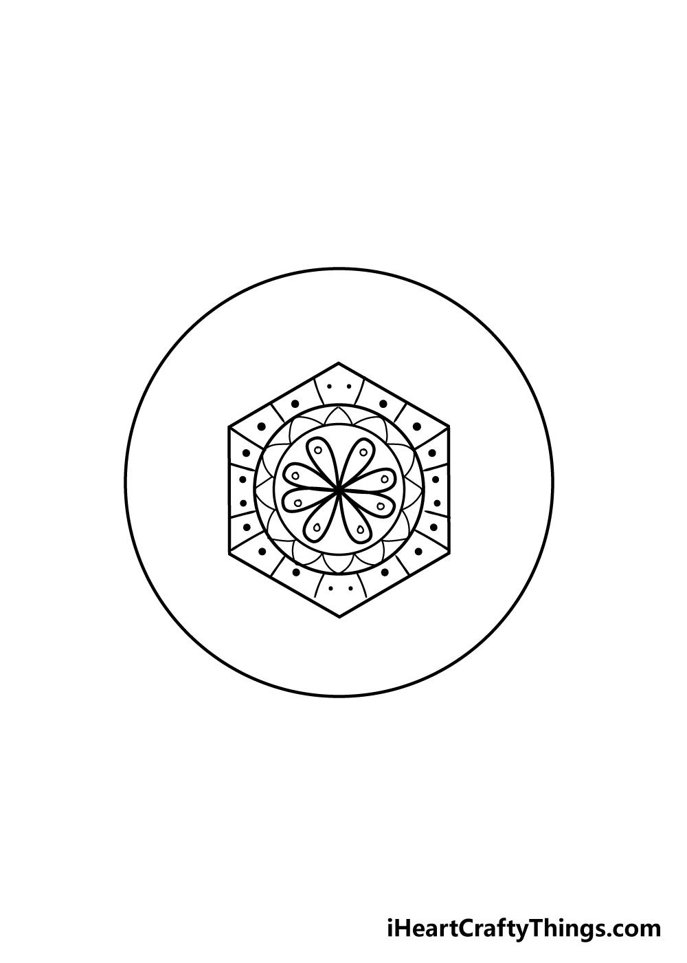 mandala drawing step 6