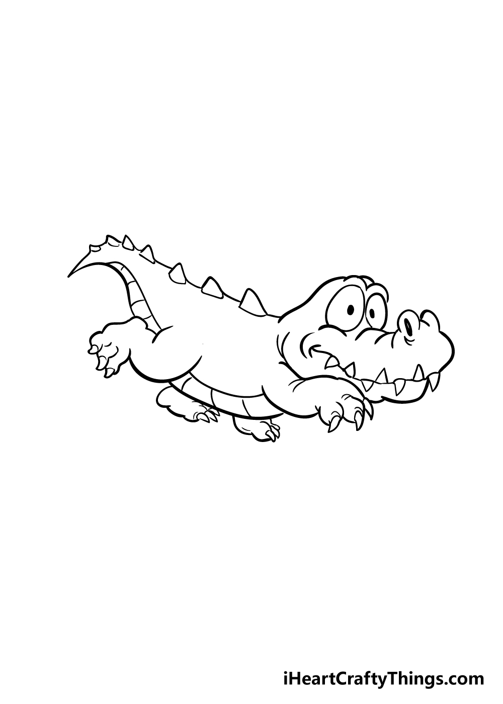 crocodile drawing step 6