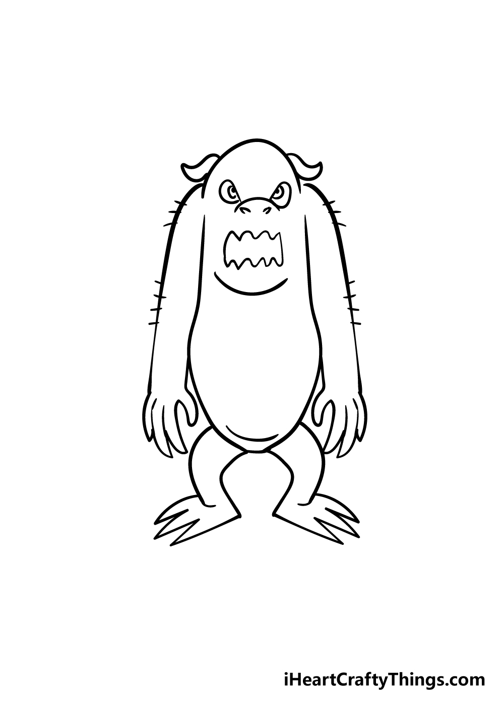 monster drawing step 6