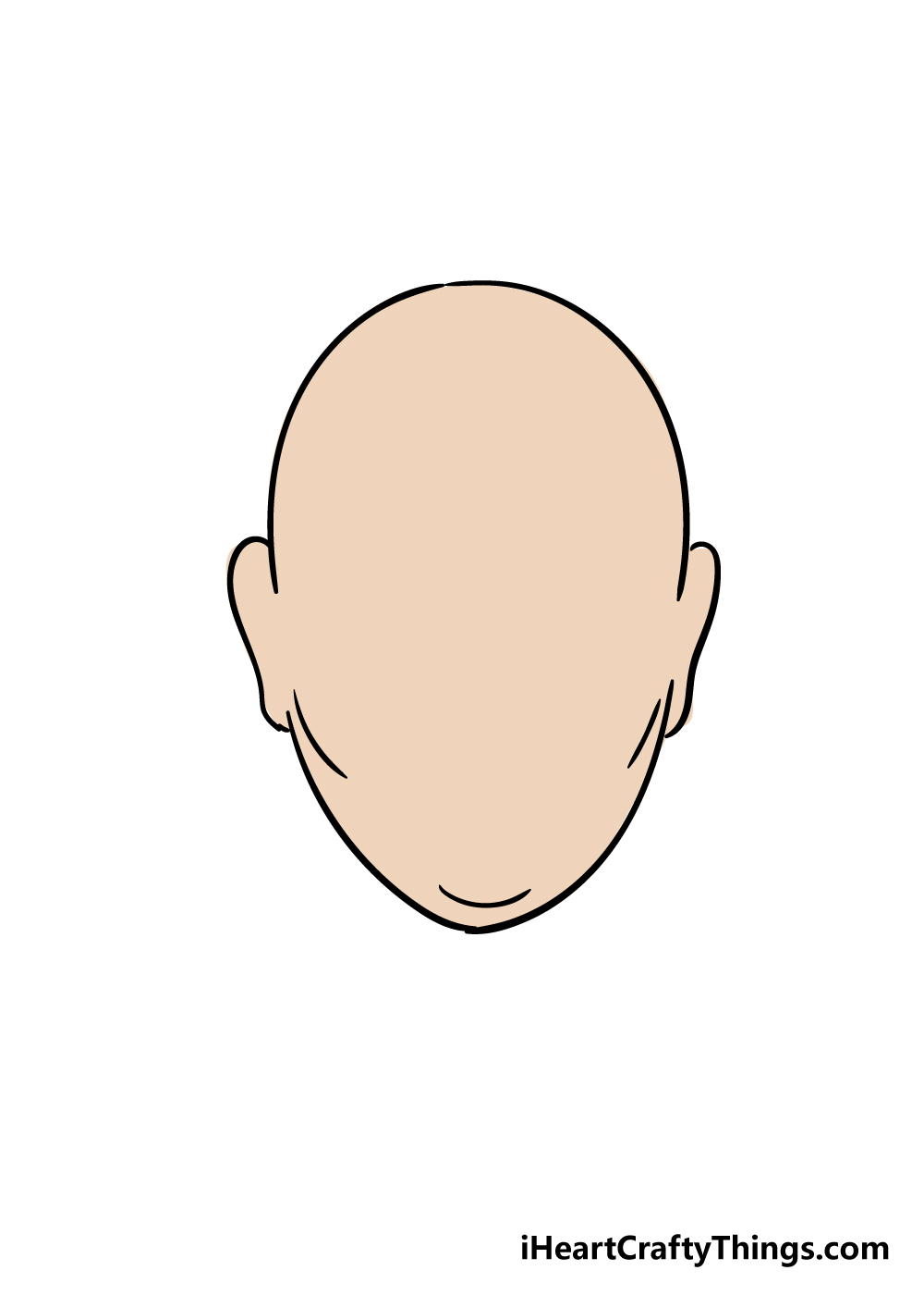 face shape drawing step 6