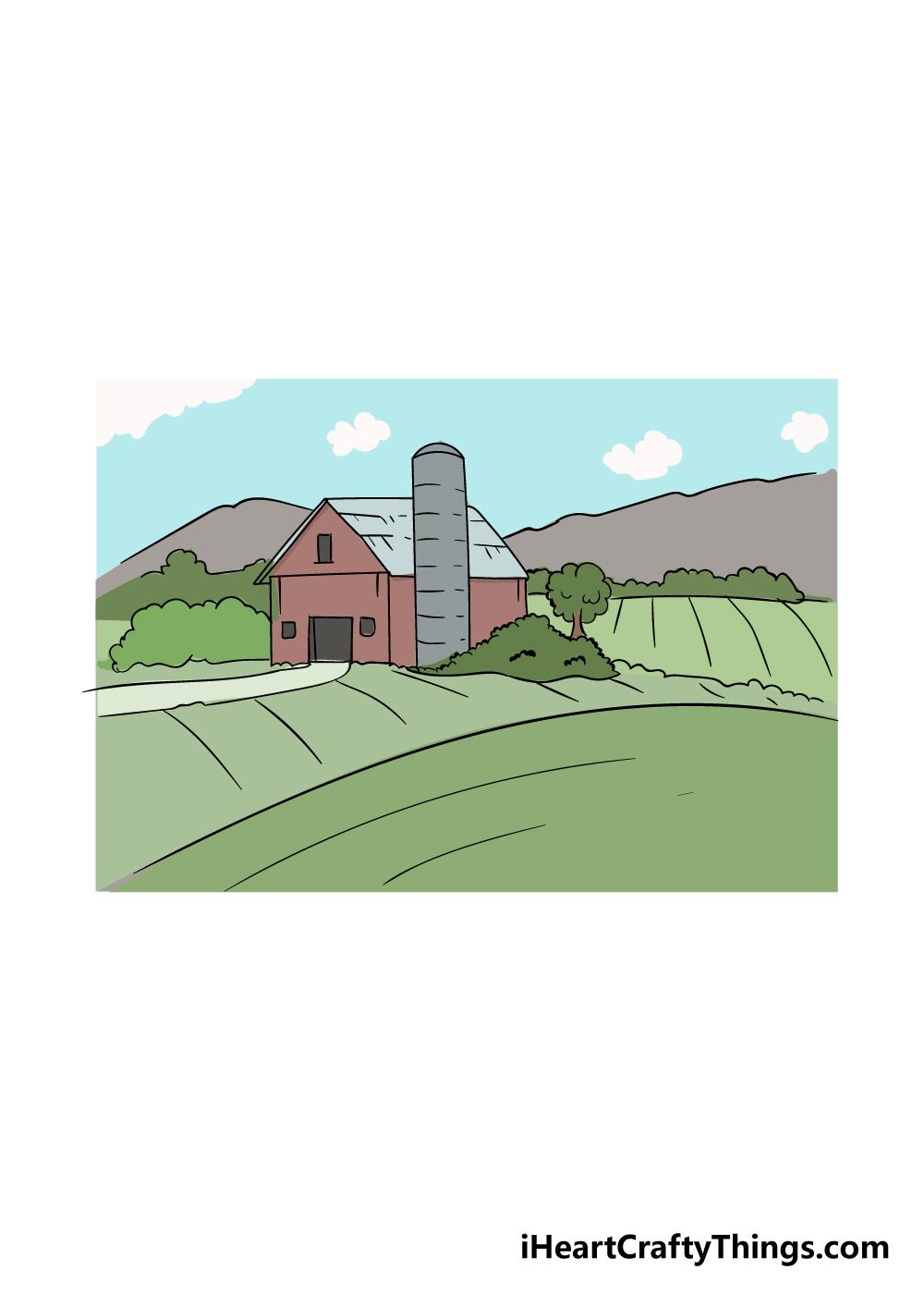 farm drawing step 6