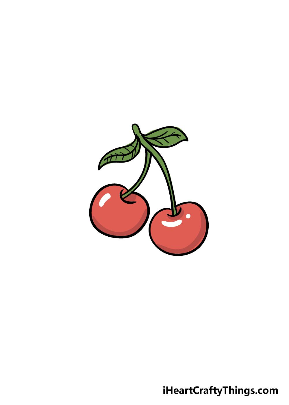 cherry drawing step 6
