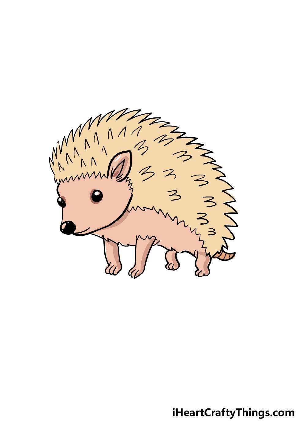 hedgehog drawing step 6