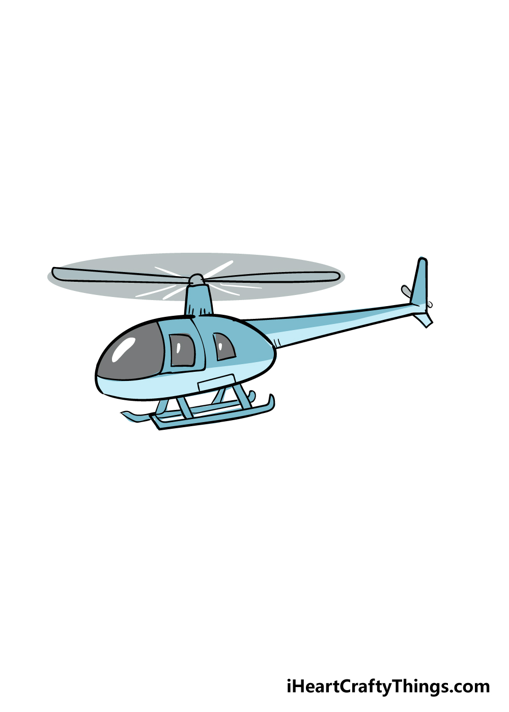 helicopter drawing step 6