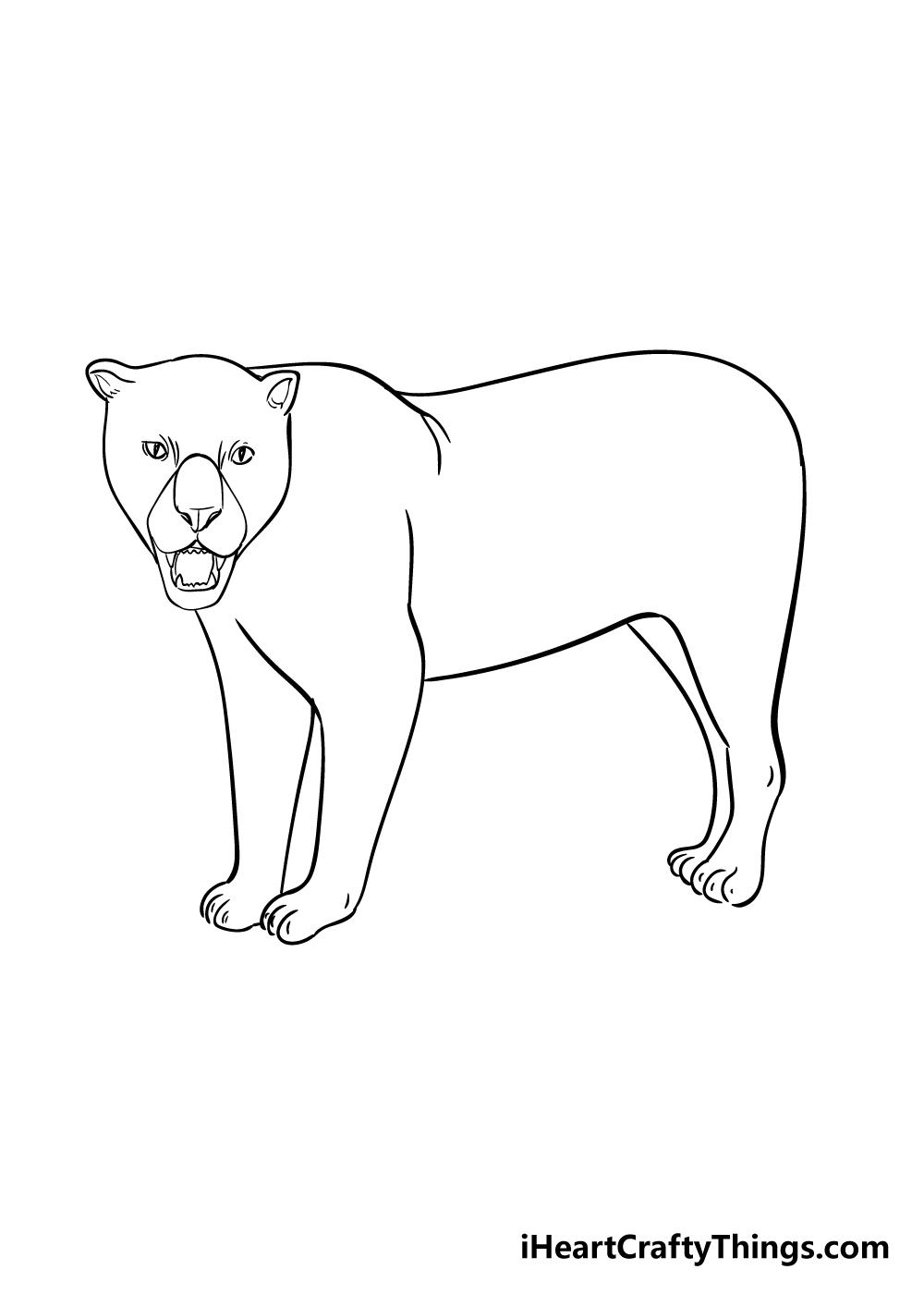 jaguar drawing step 6