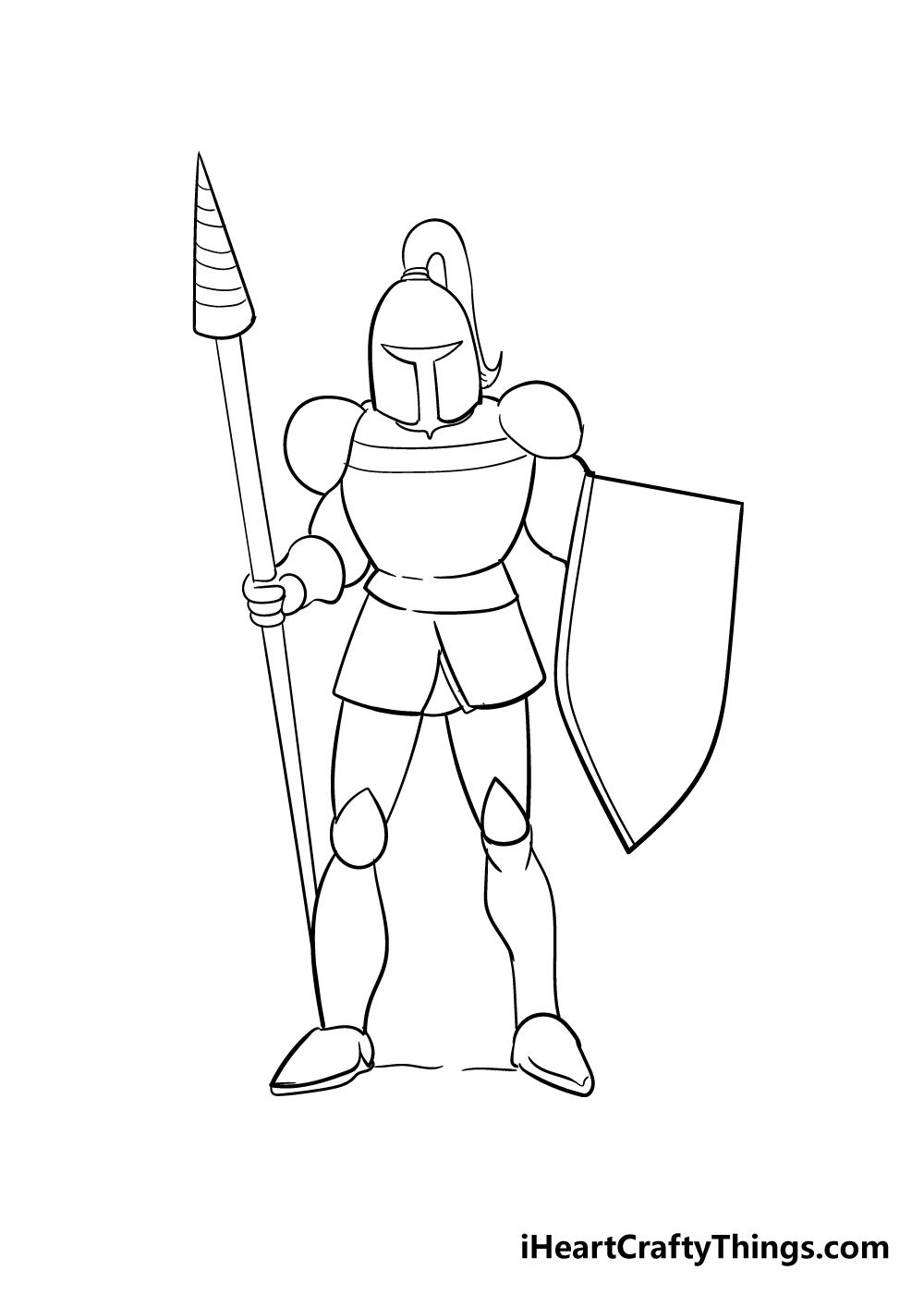 knight drawing step 6