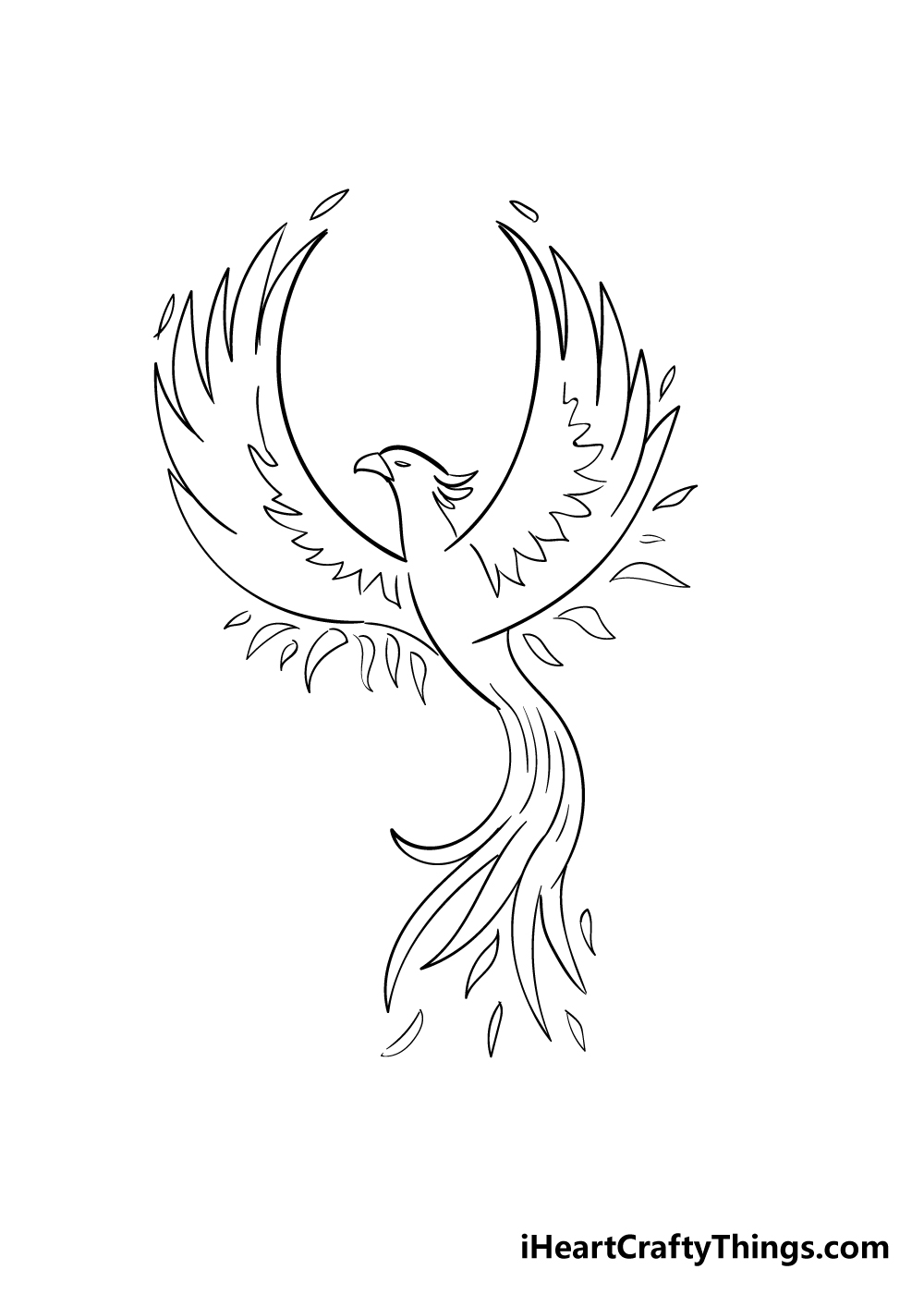 phoenix drawing step 6