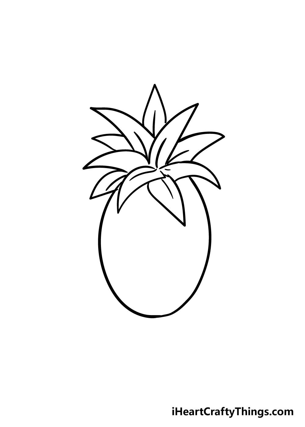 pineapple drawing step 6