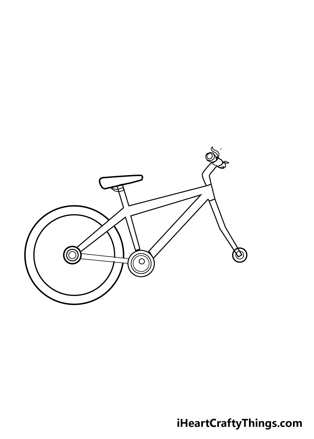 bike drawing step 6