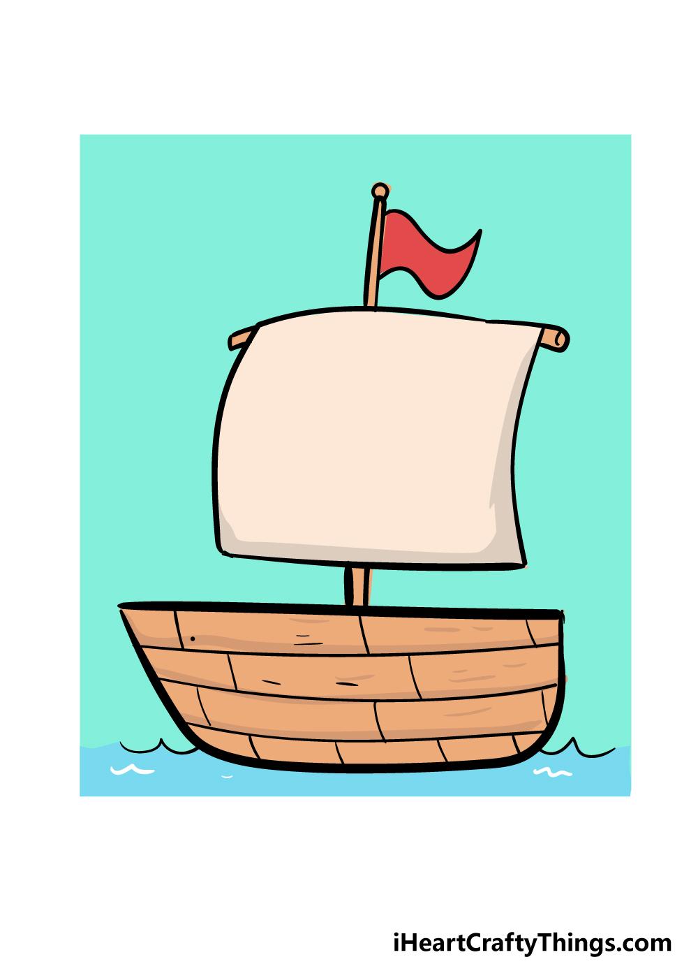 boat drawing step 7