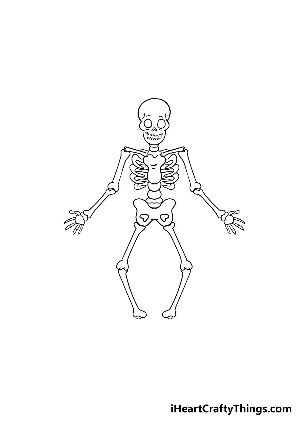 skeleton drawing step 7