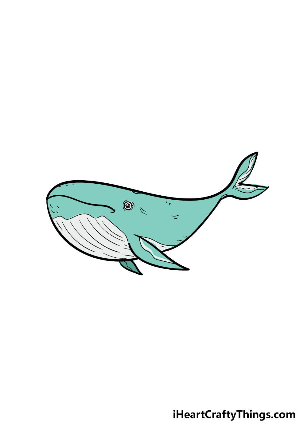 whale drawing step 7