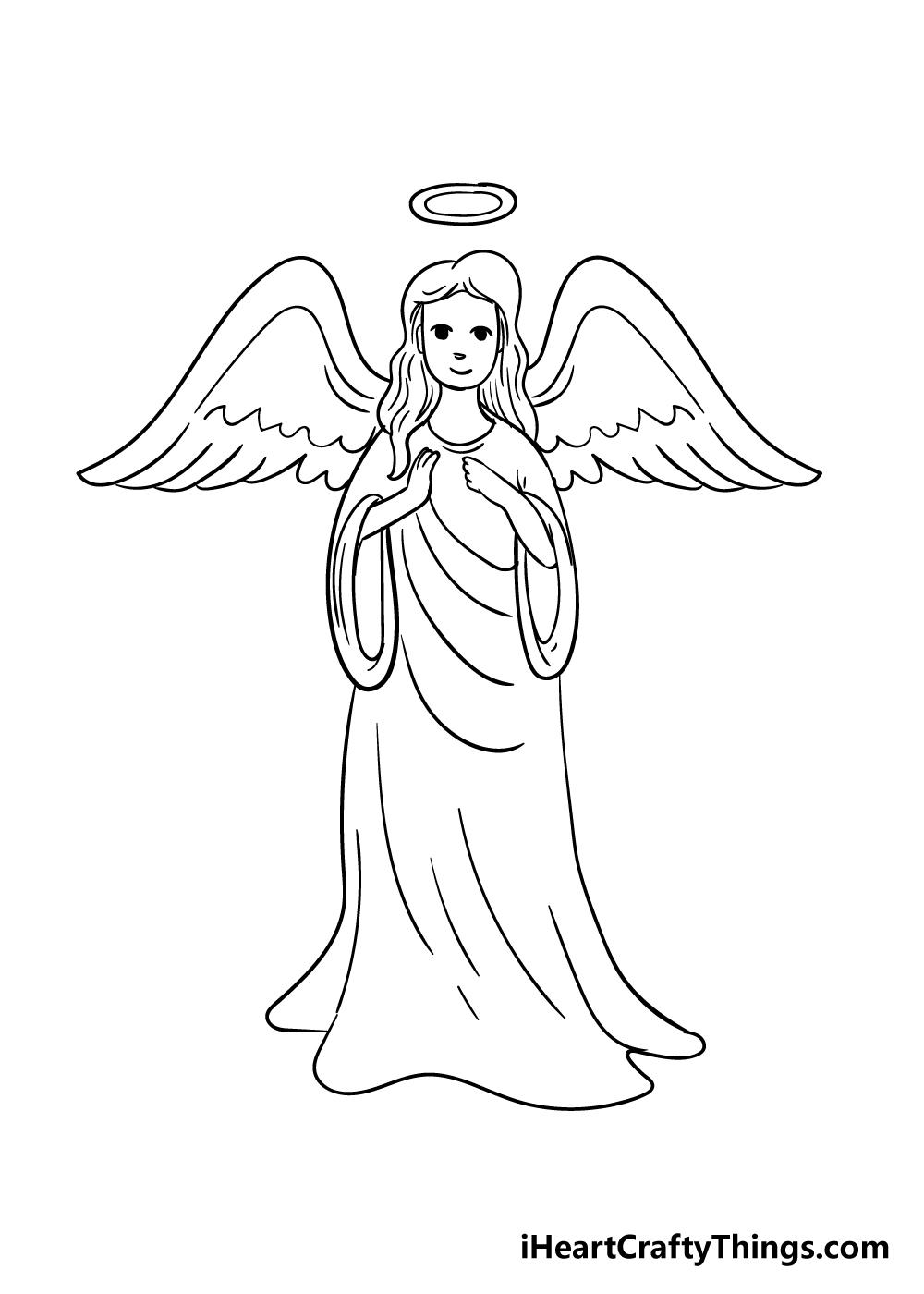 angel drawing step 7