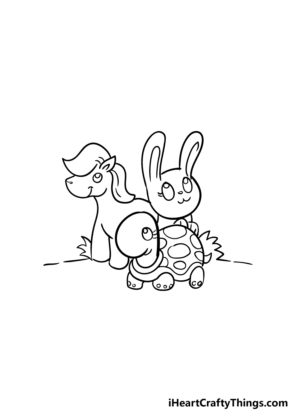 cute animals drawing step 7