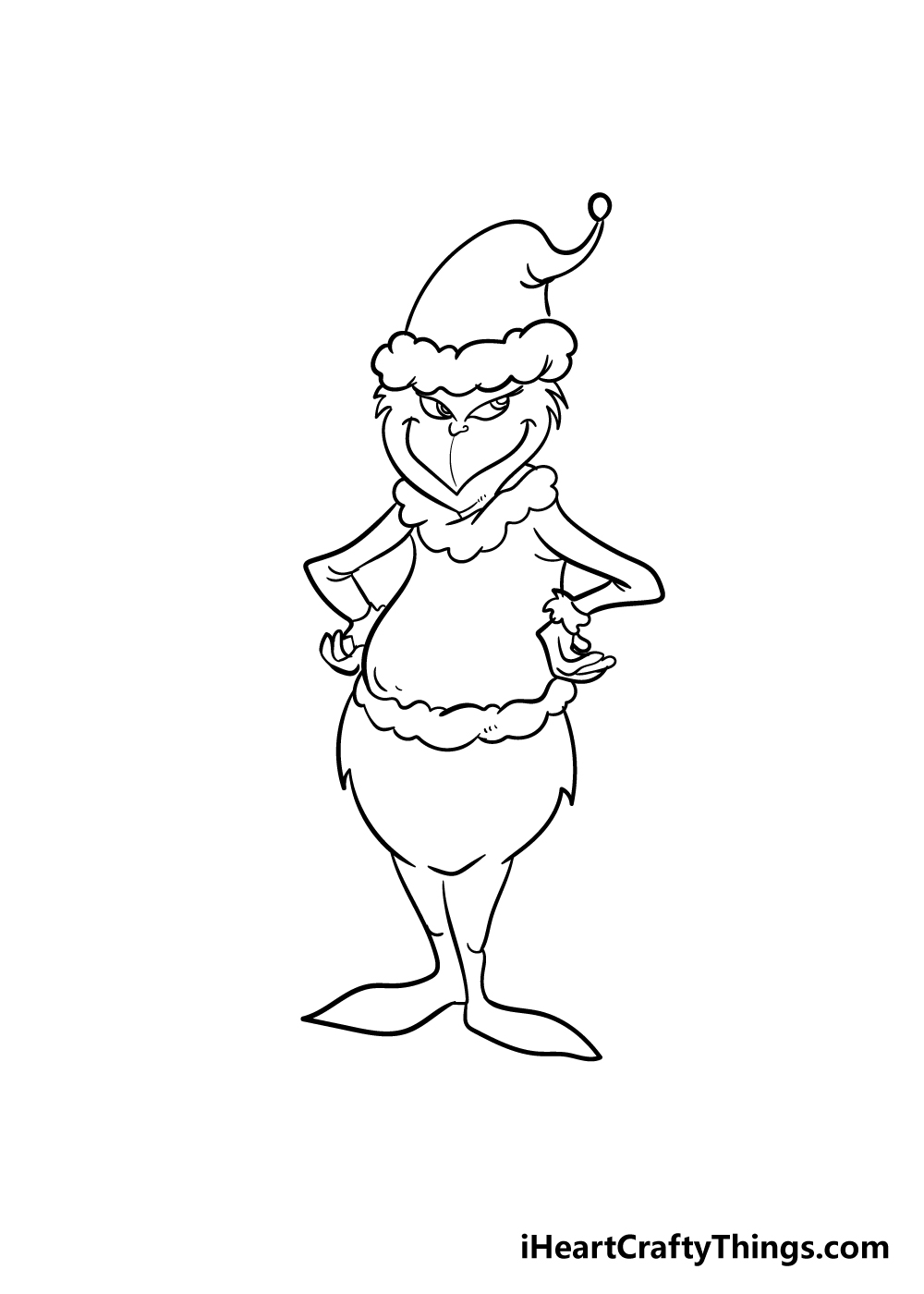 grinch drawing step 7