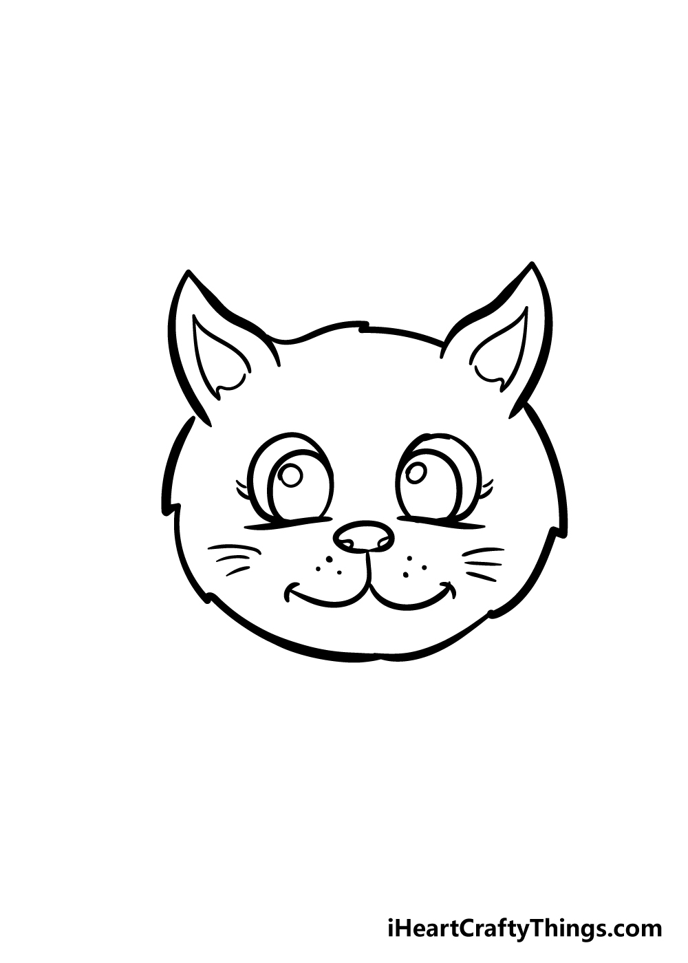 cat face drawing step 7