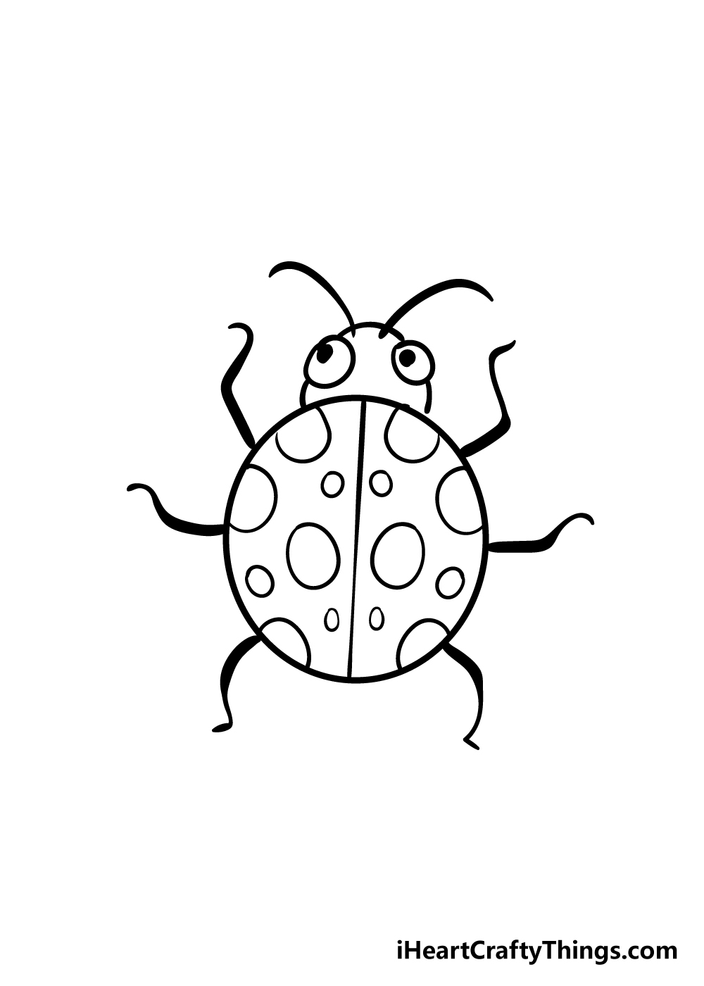 ladybug drawing step 7