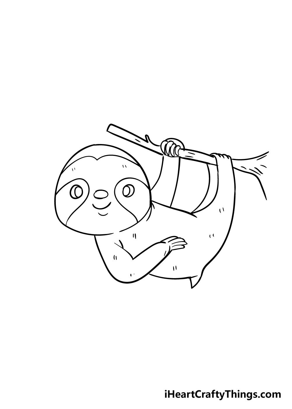 sloth drawing step 7