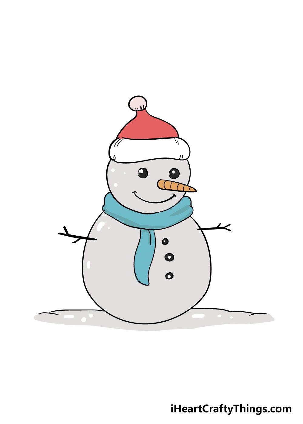 snowman drawing step 7