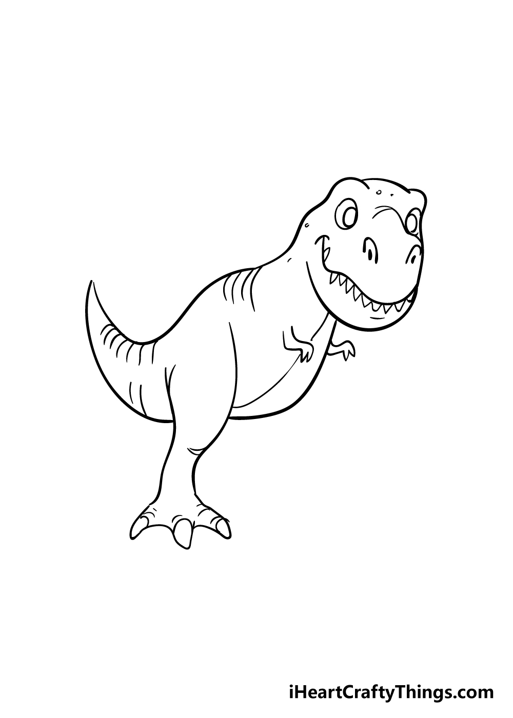 t-rex drawing step 7
