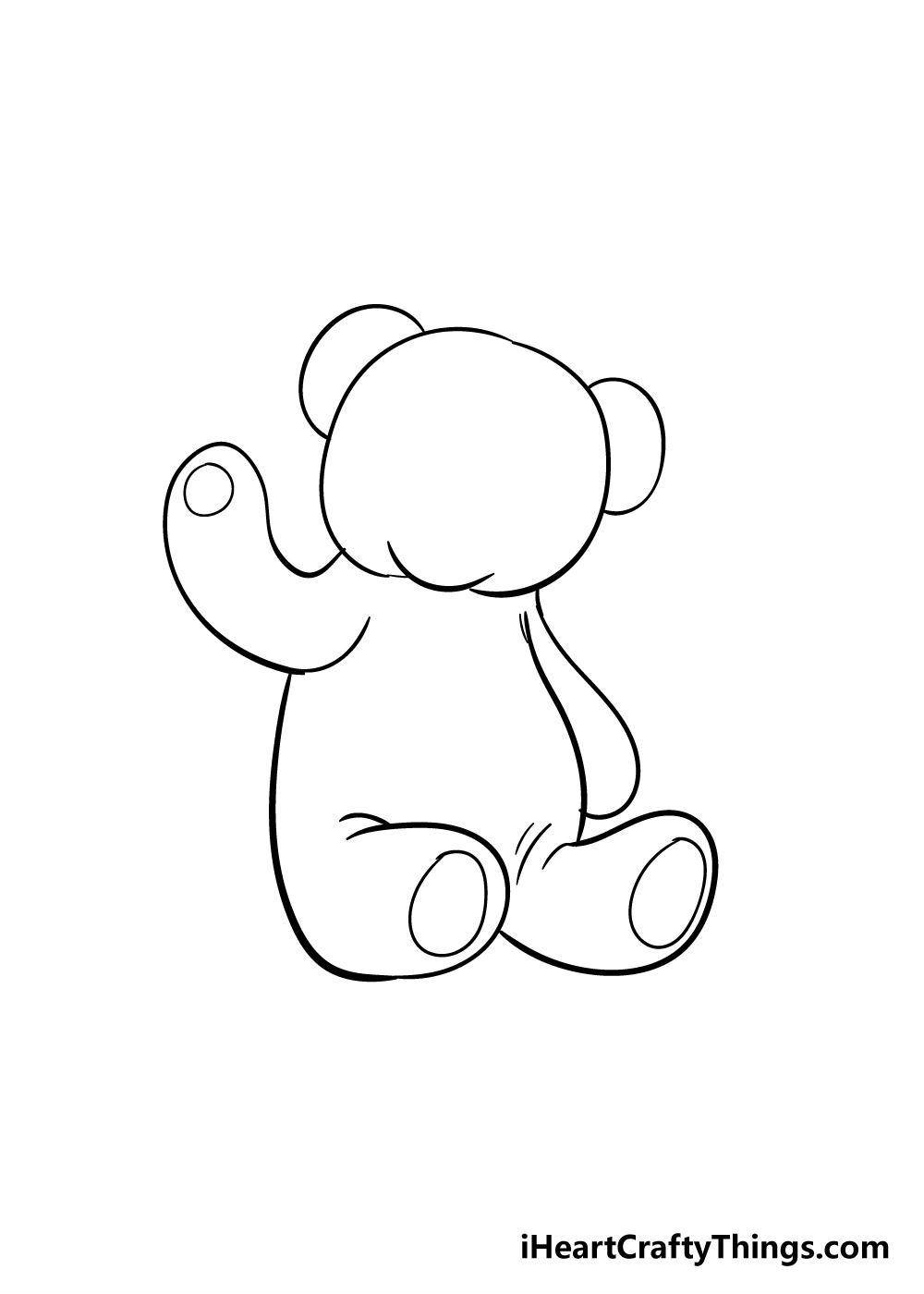 teddy bear drawing step 7