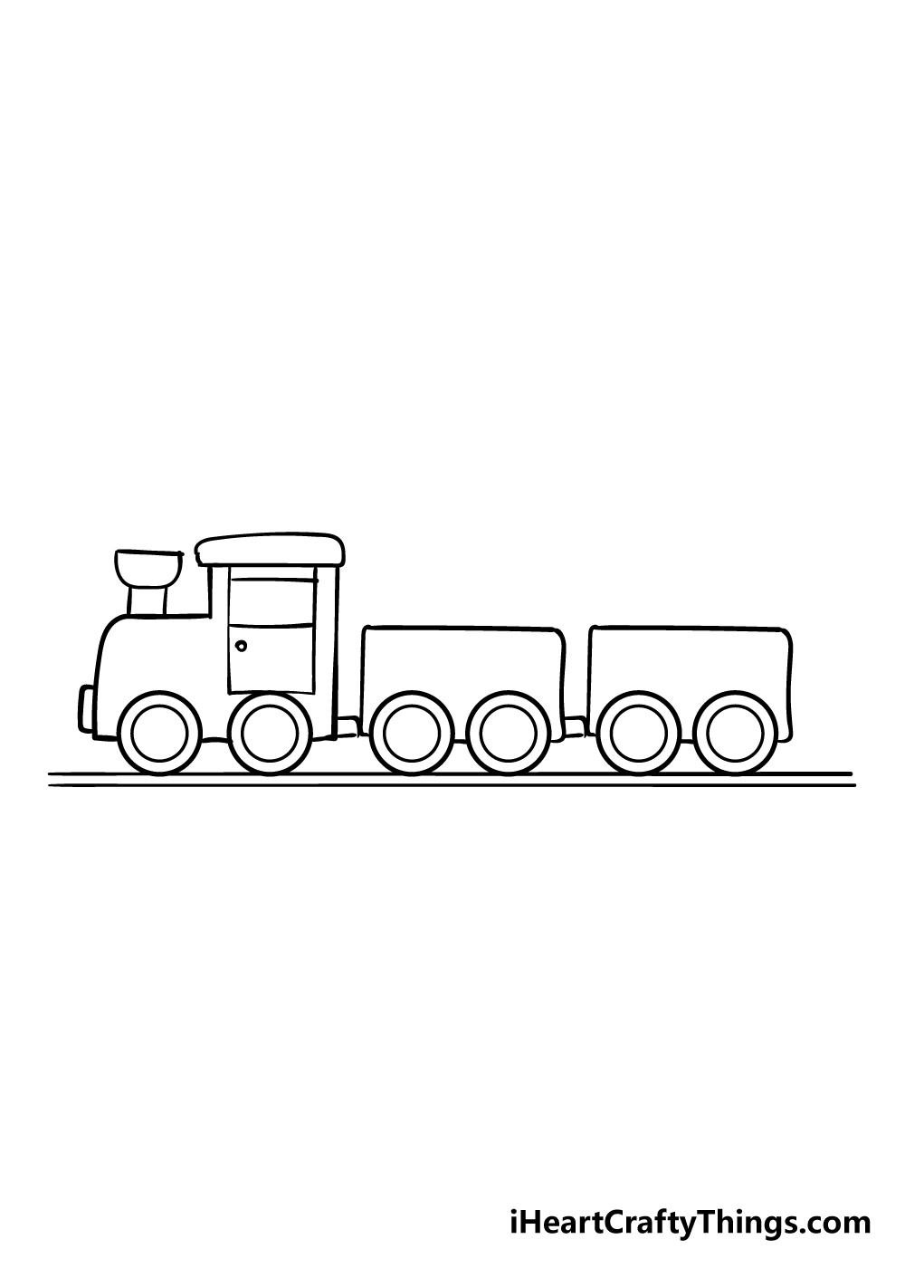 train drawing step 7