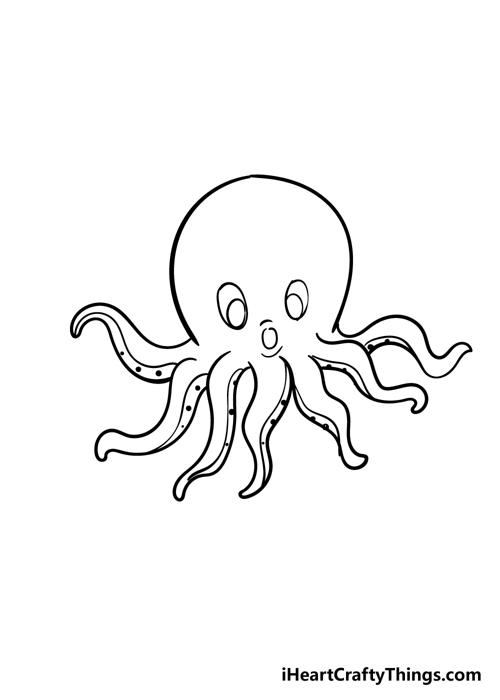 octopus drawing step 7