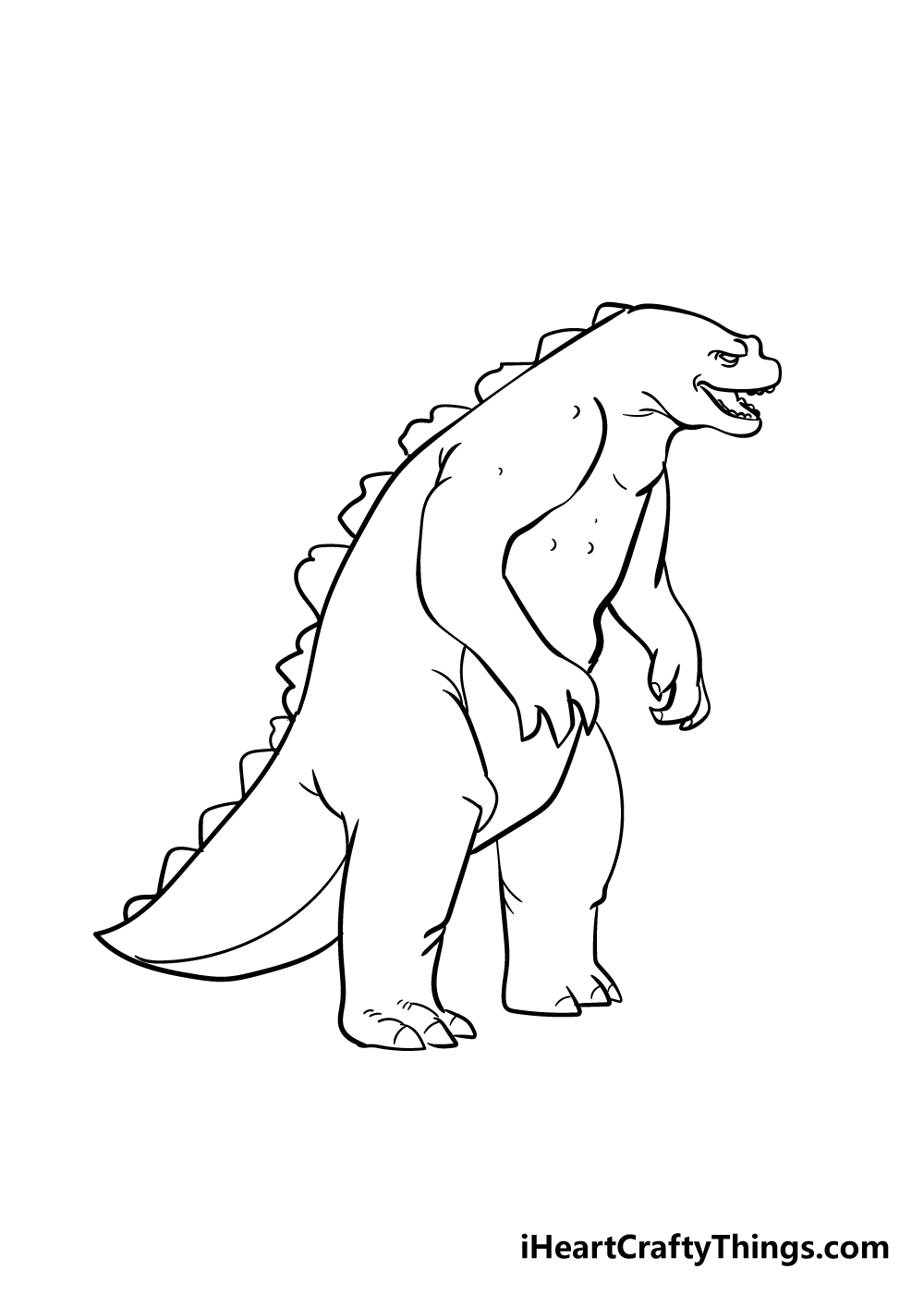 Godzilla drawing step 7