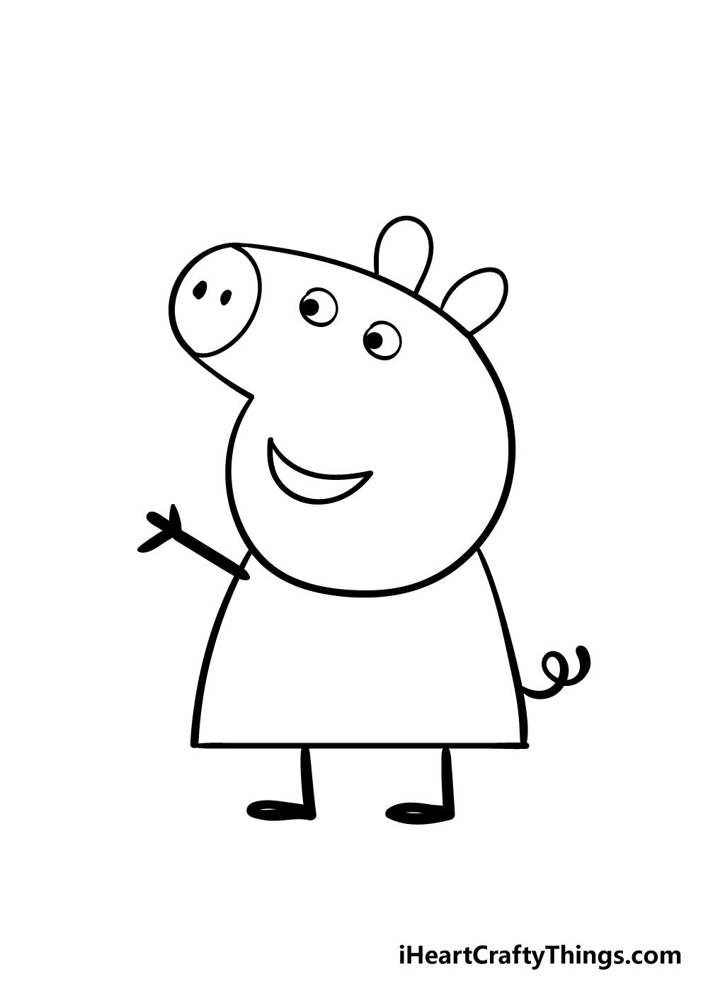 peppa pig drawing step 7