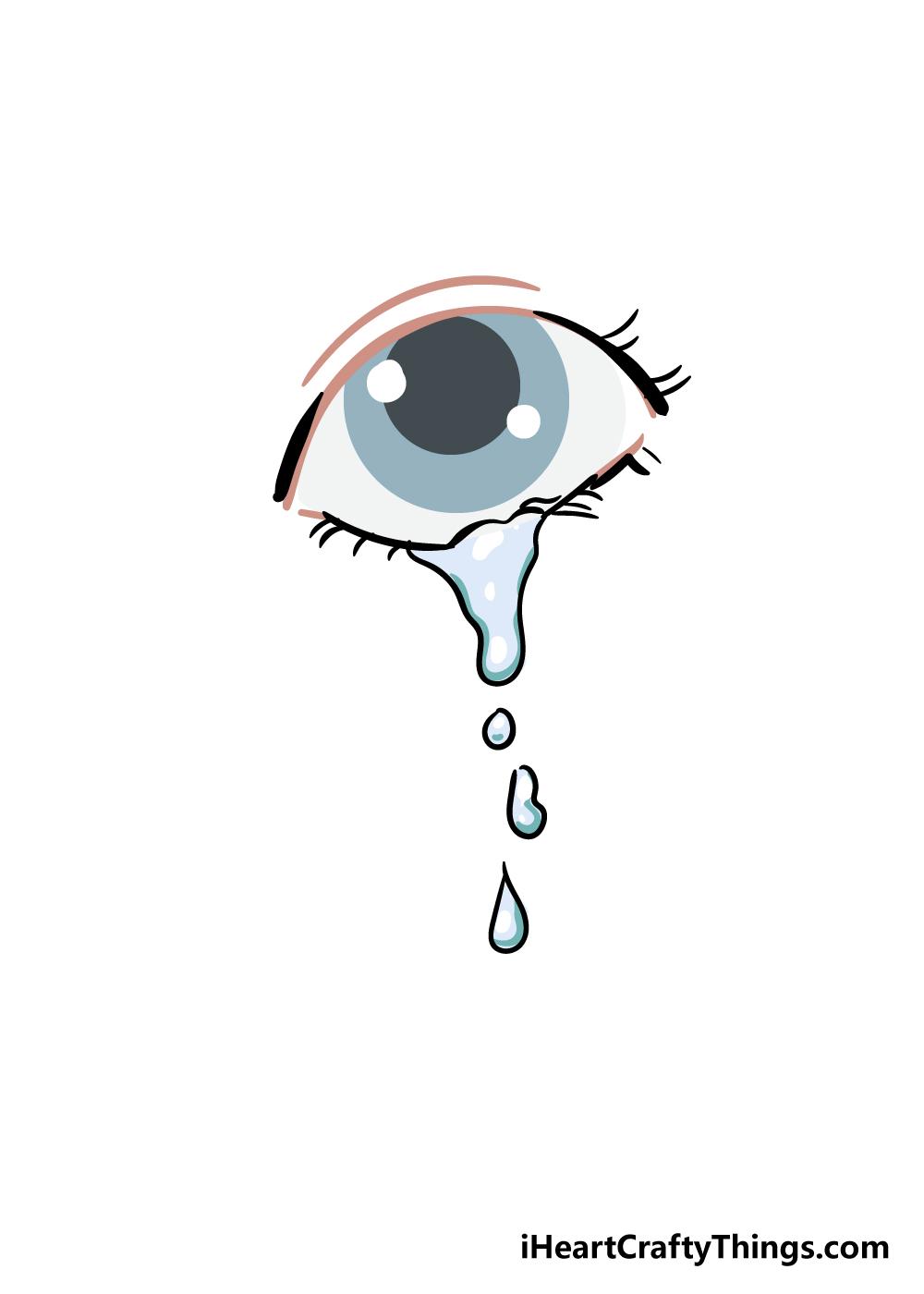 tears drawing step 7