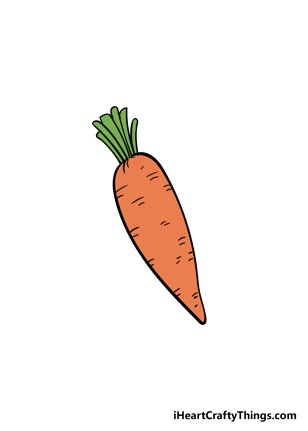 carrot drawing step 7