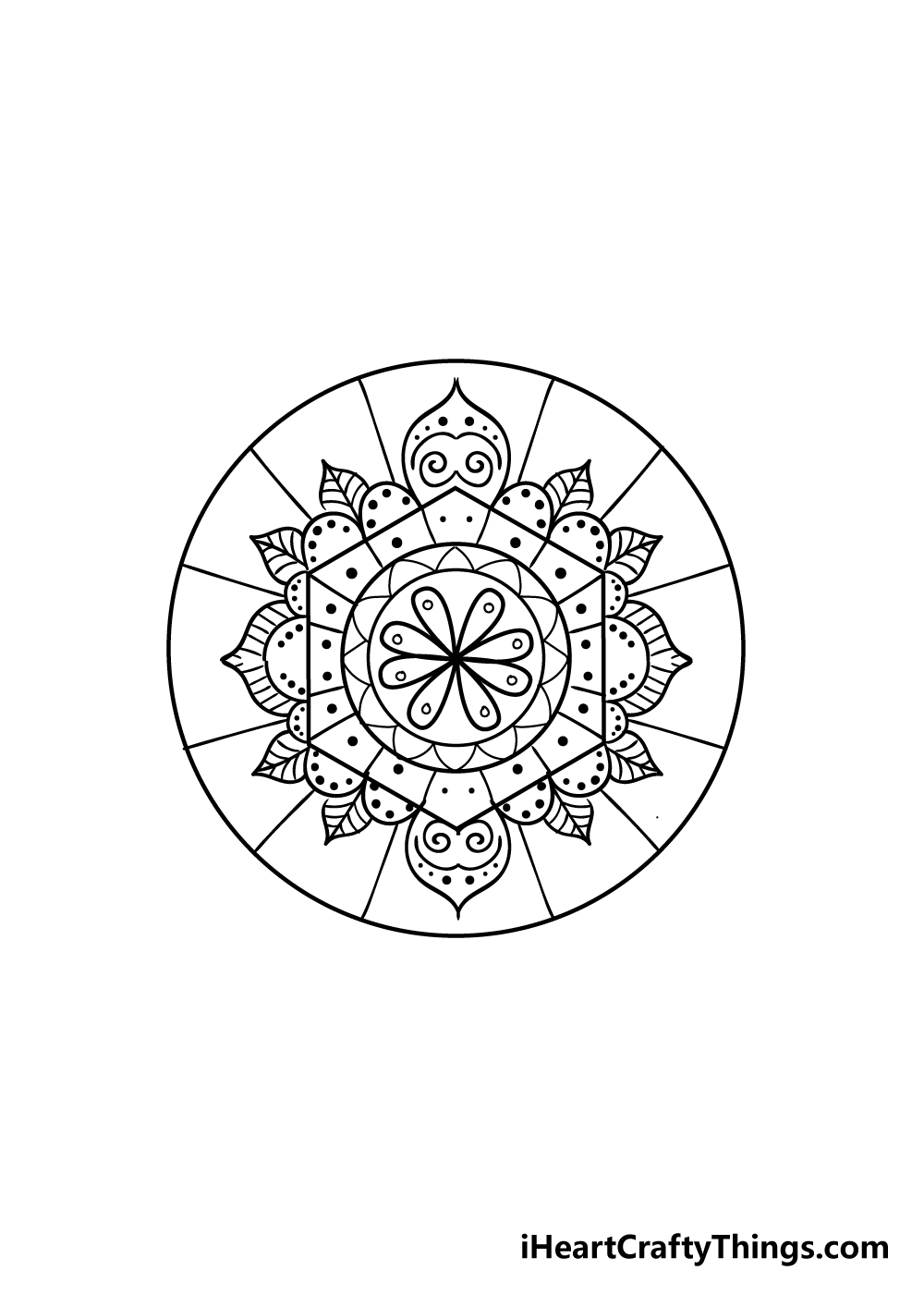 mandala drawing step 7