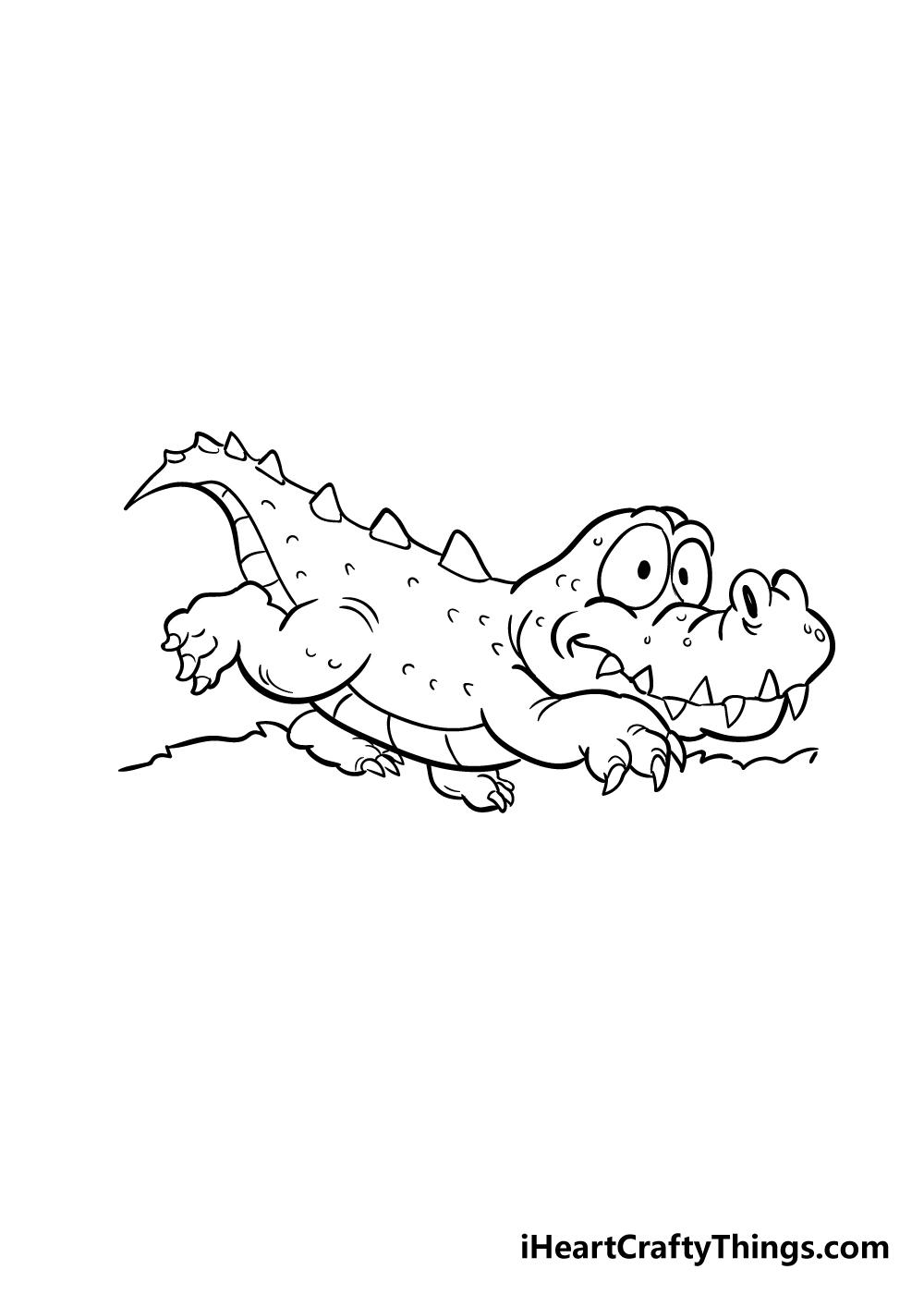 crocodile drawing step 7