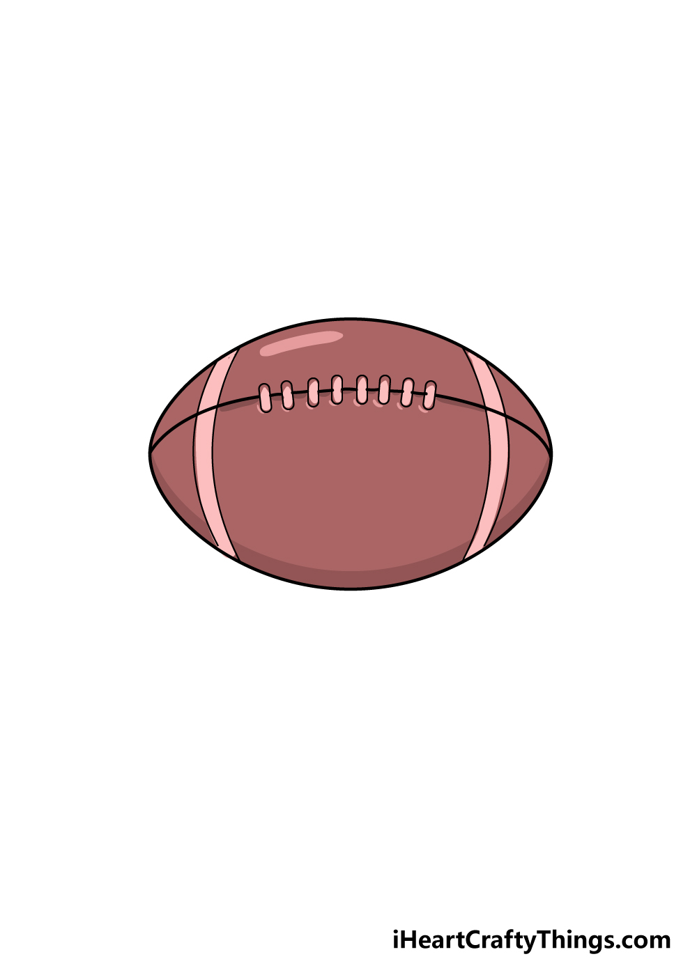 football drawing step 7