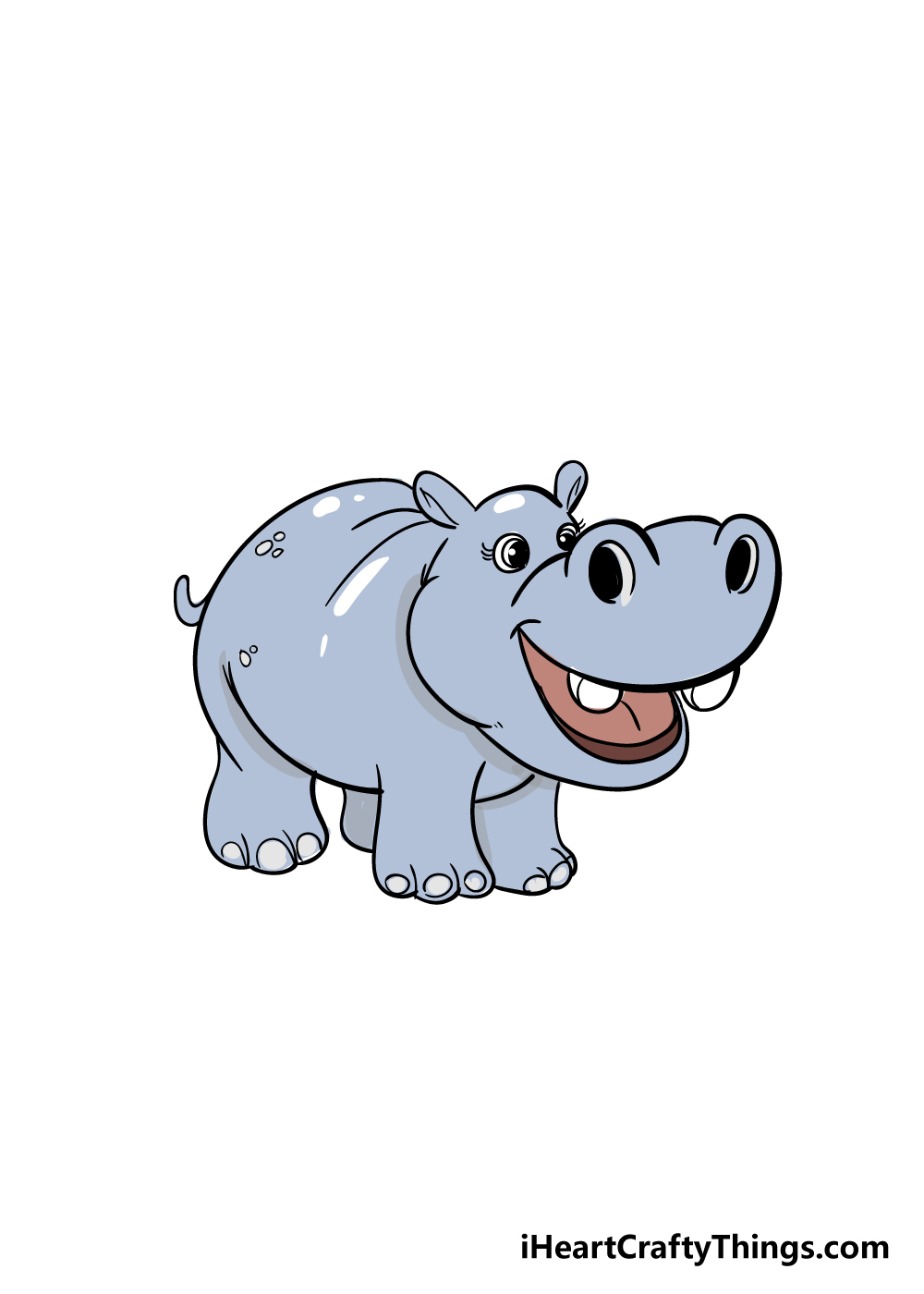 hippo drawing step 7