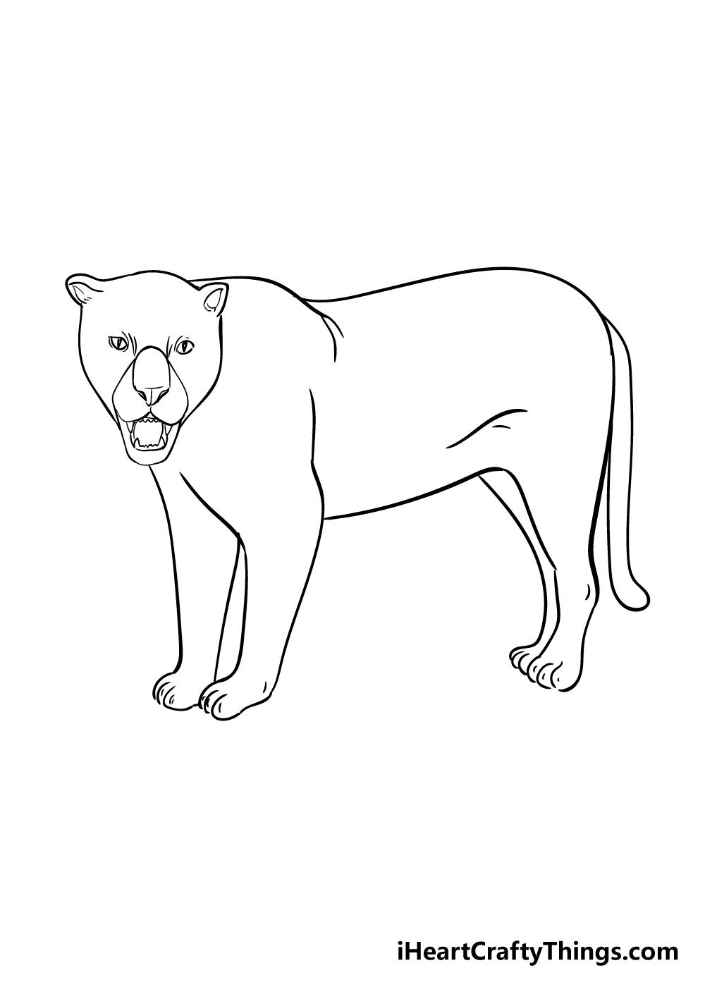 jaguar drawing step 7