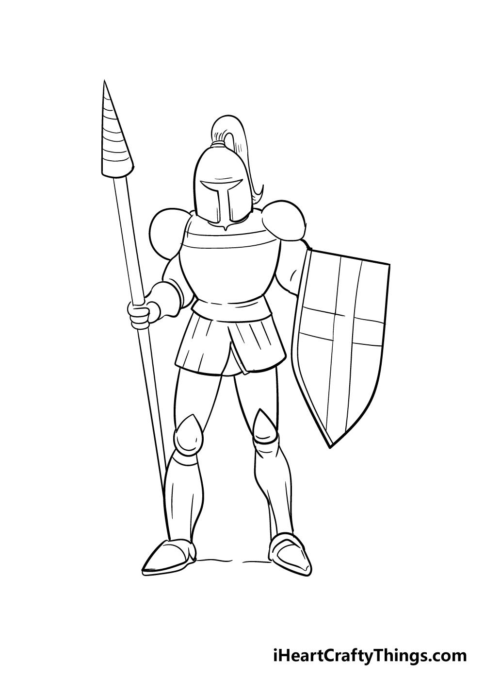 knight drawing step 7