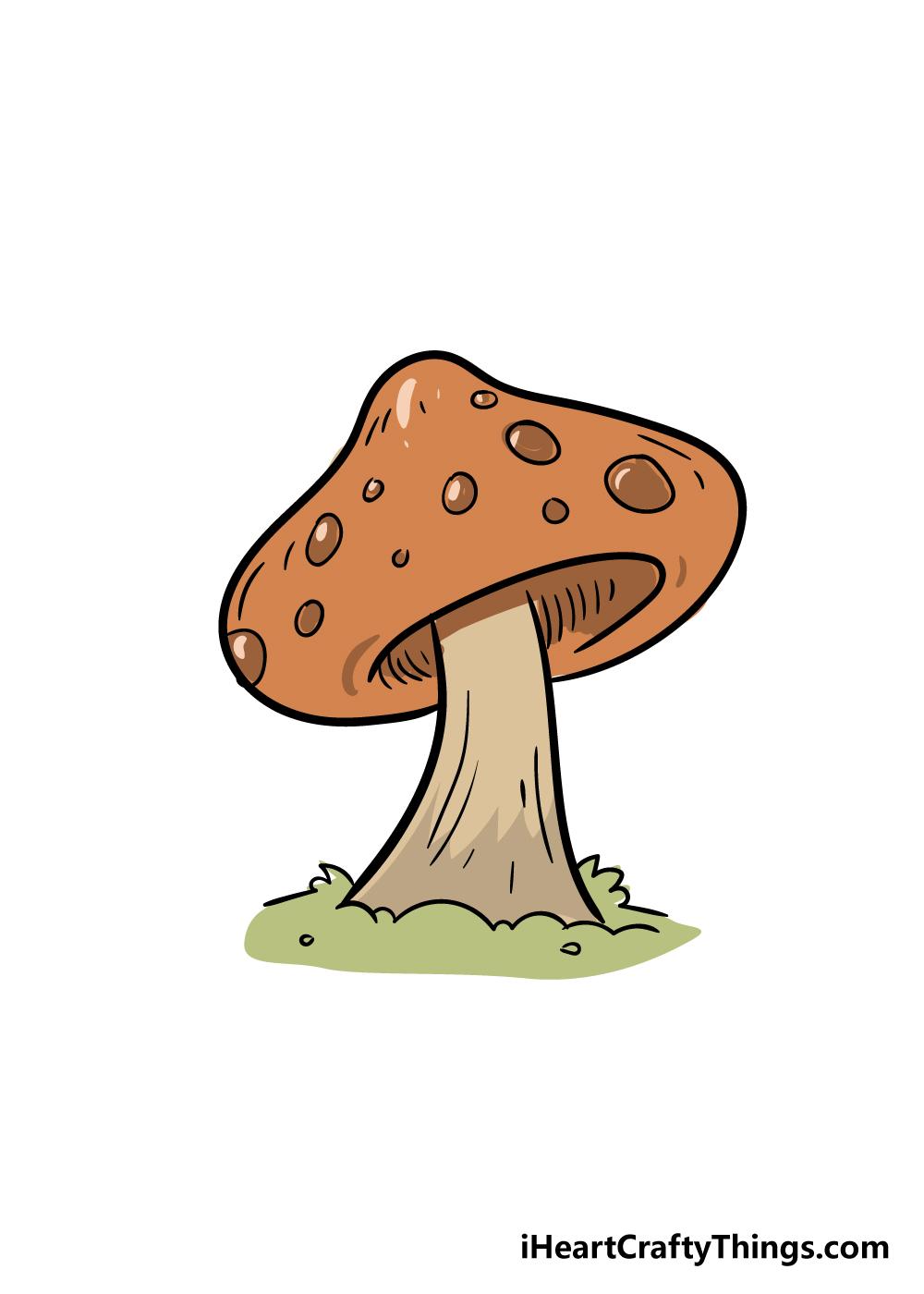 mushroom drawing step 7
