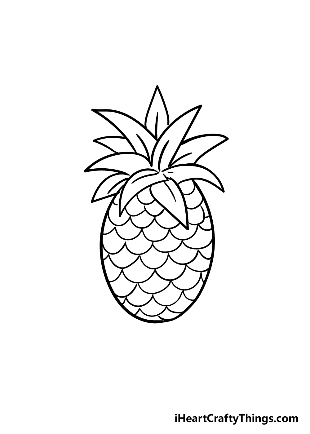 pineapple drawing step 7