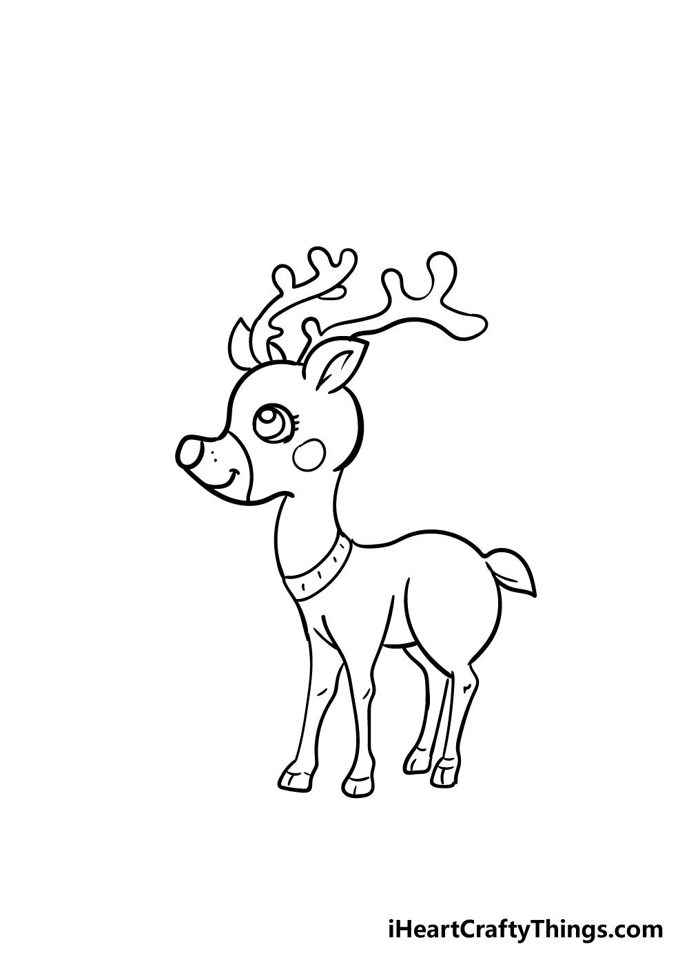 reindeer drawing step 7