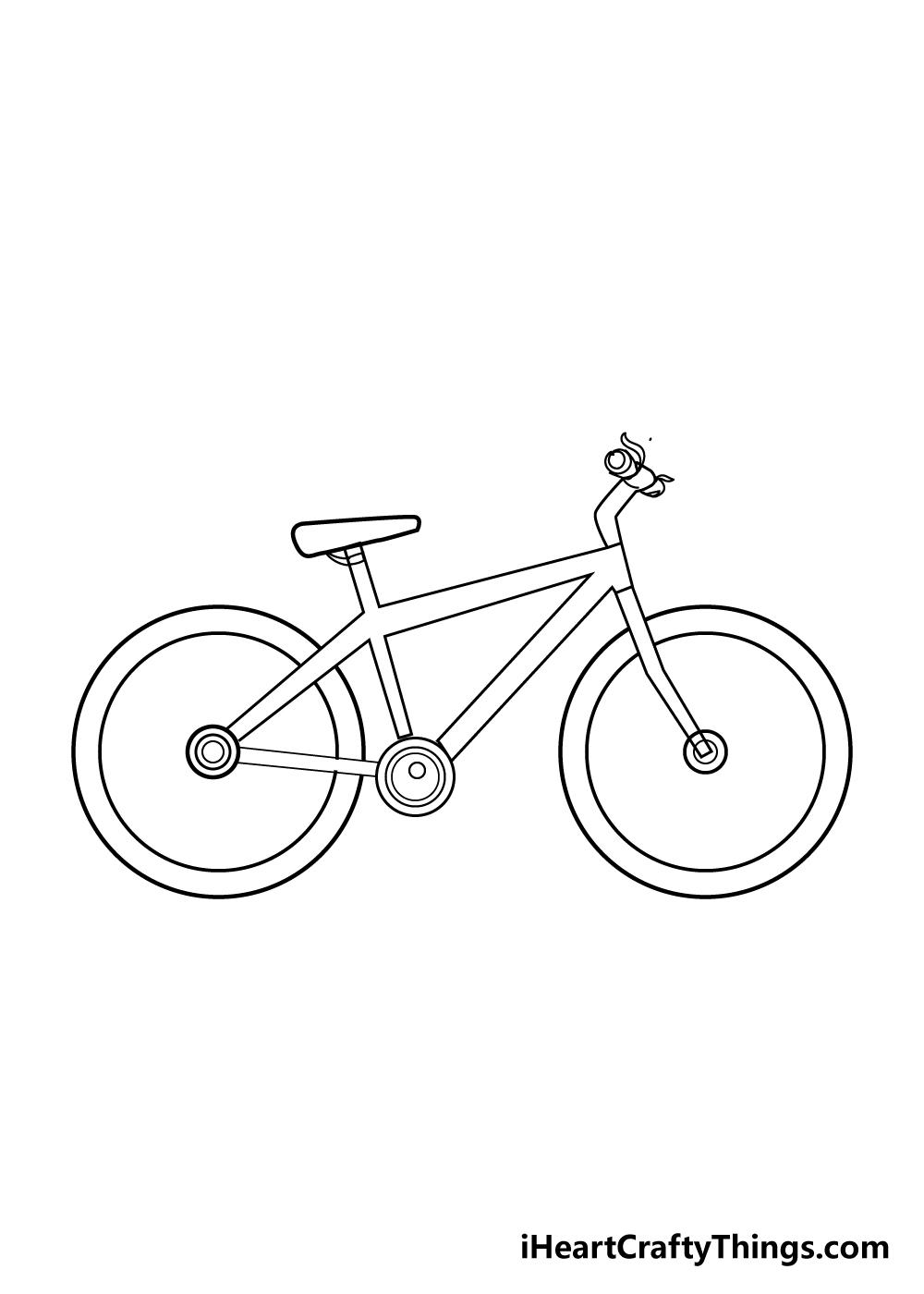 bike drawing step 7