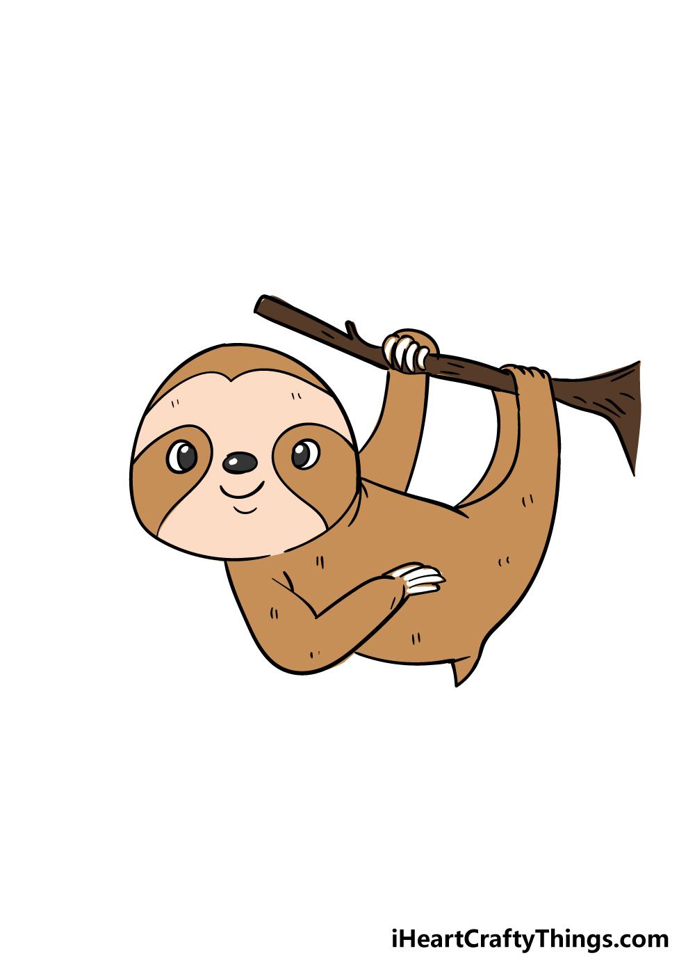 sloth drawing step 8