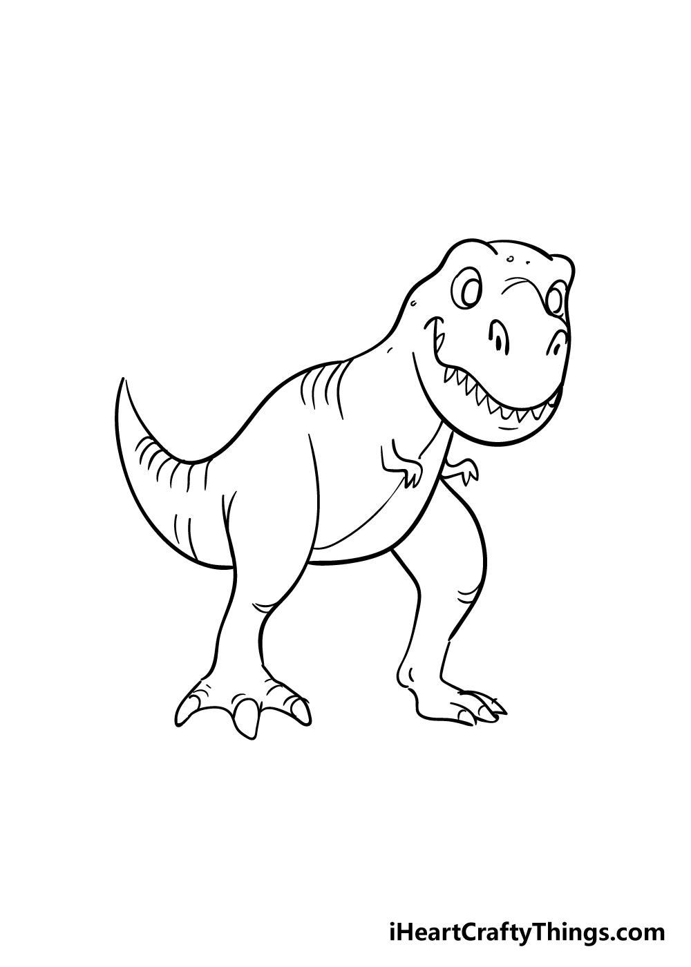 t-rex drawing step 8