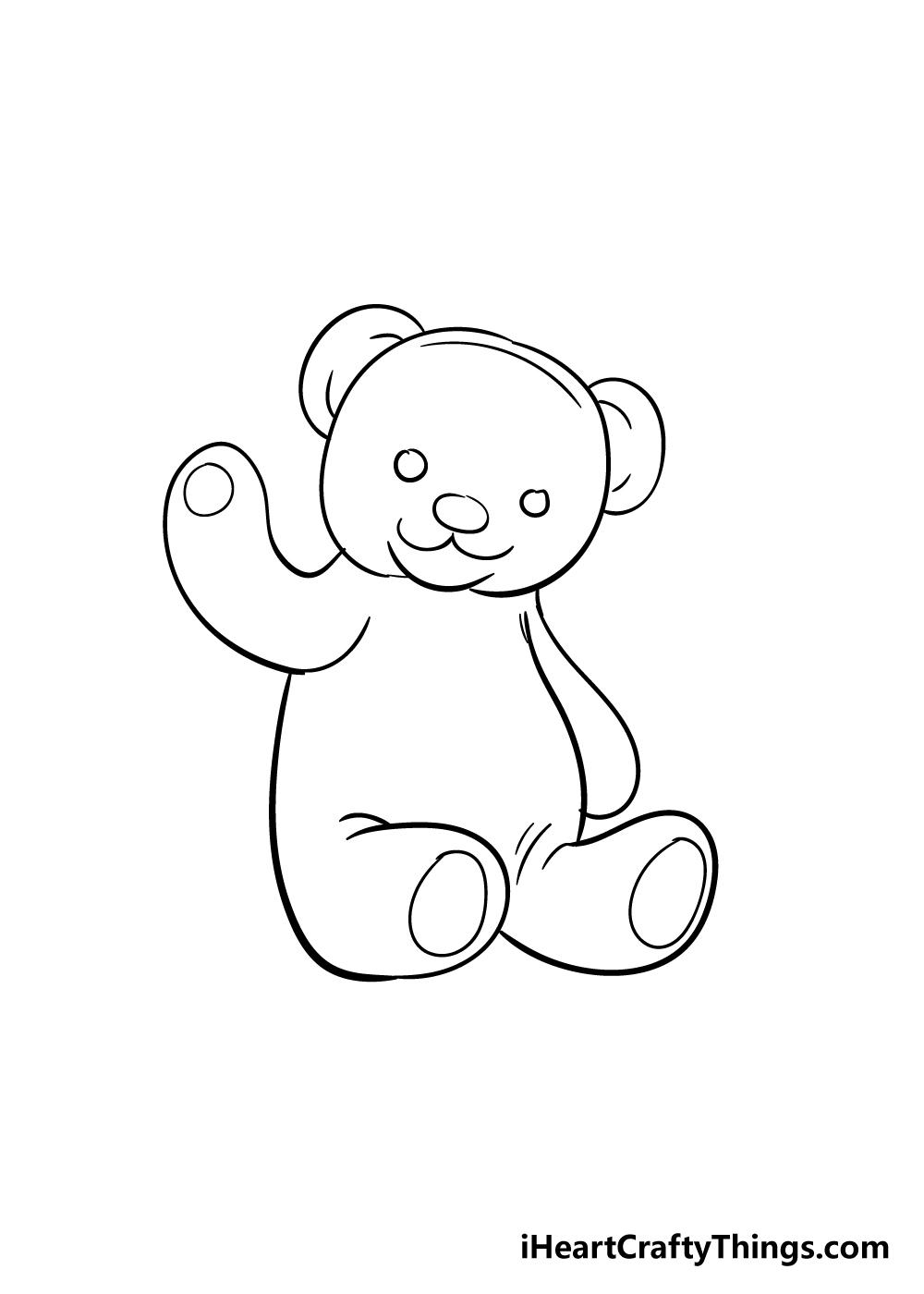 teddy bear drawing step 8