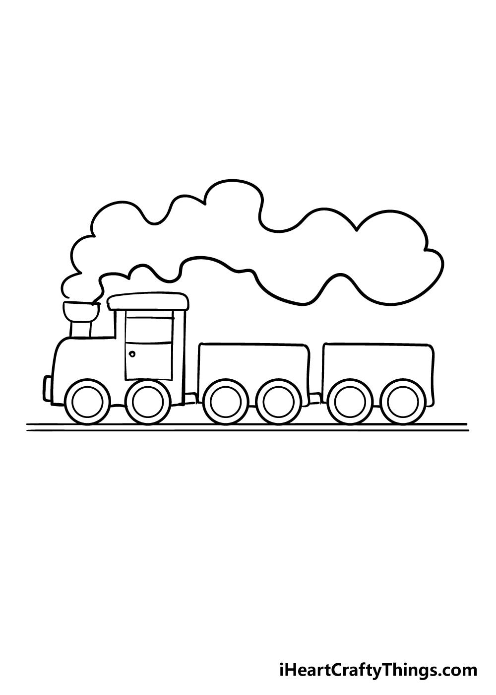 train drawing step 8