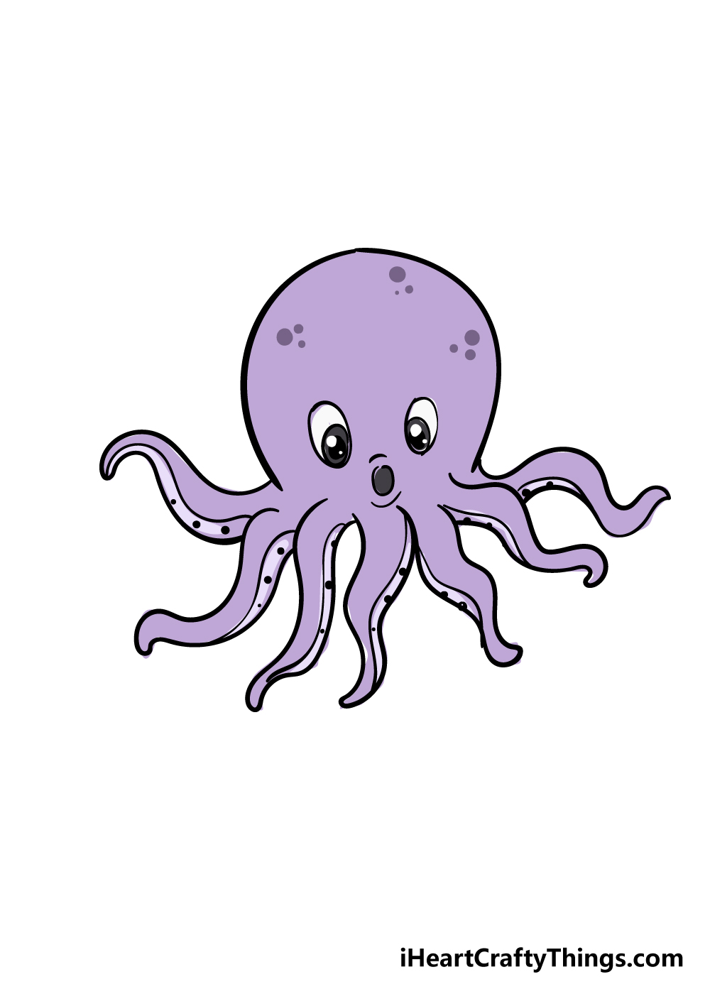 octopus drawing step 8