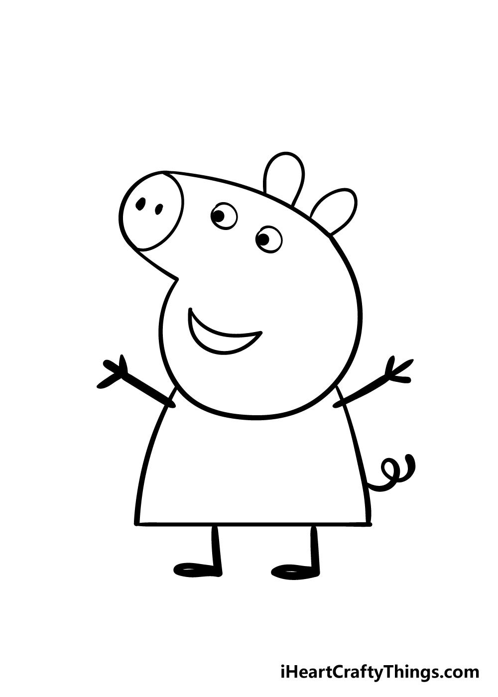 peppa pig drawing step 8